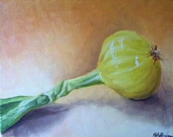 Onion oil painting