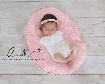 Girls Strapless Ruffle Romper, Newborn~ Newborn Photography Prop, Ruffle Romper