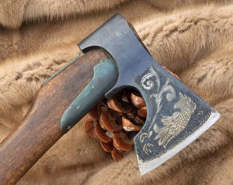 Handmade HATCHET, Custom AXE, Hand forged axe, Hunting axe, 11.006