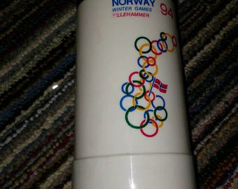 1994 Norway Olympic Thermos collectible thermos from the 1994 Olympic games in Norway