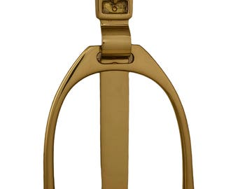 Vintage Solid Brass Stirrup Door Knocker