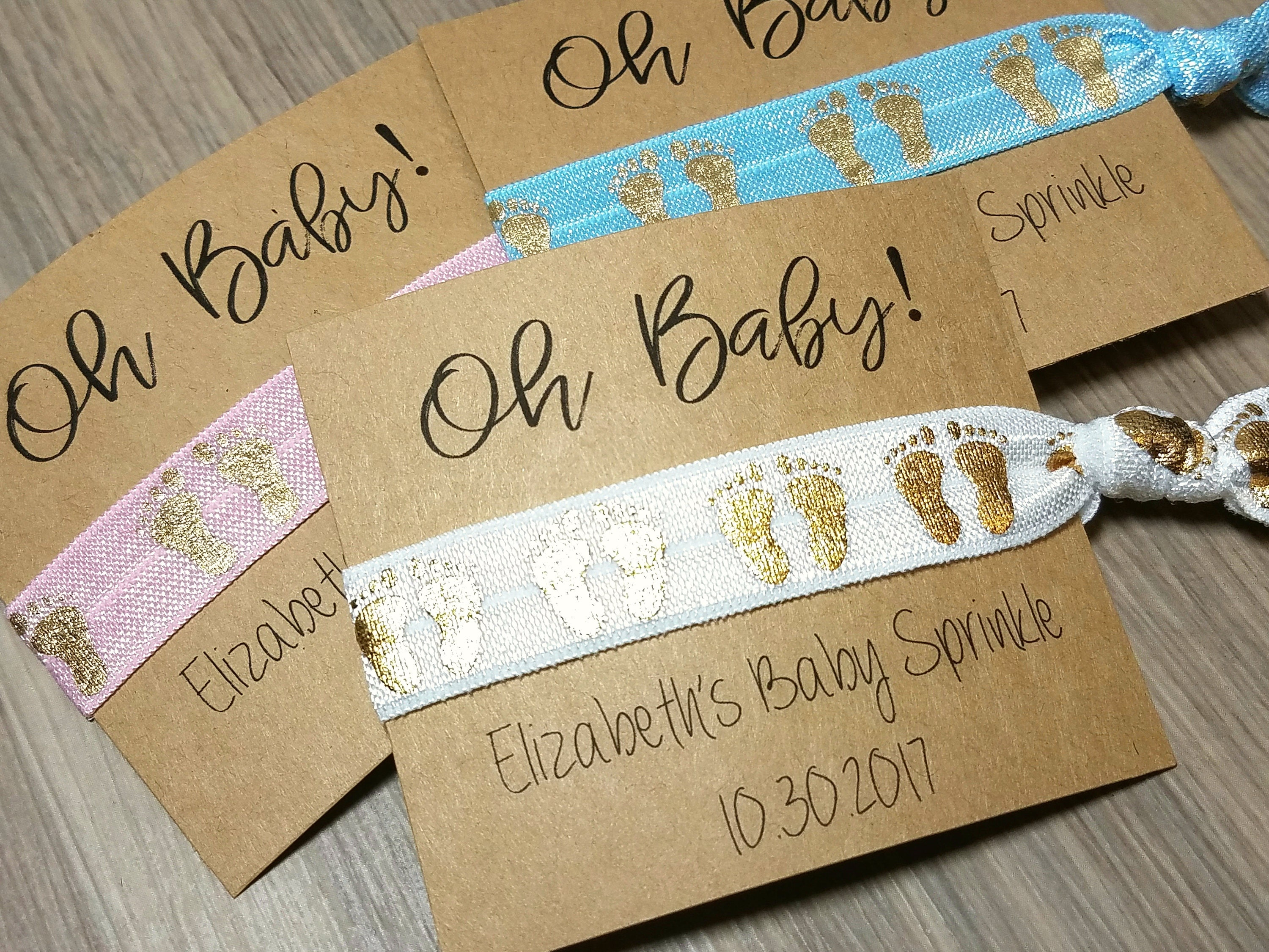 Oh Baby Hair Ties Favors Baby Shower Favors