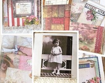 Junk journals -Smash books -junk journal kits -scrapbook -journal -handmade journal -junk journal vintage, junk journal ehpemera,gift for he