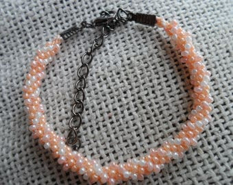 Kumihimo single wrap bracelet in serbert colours