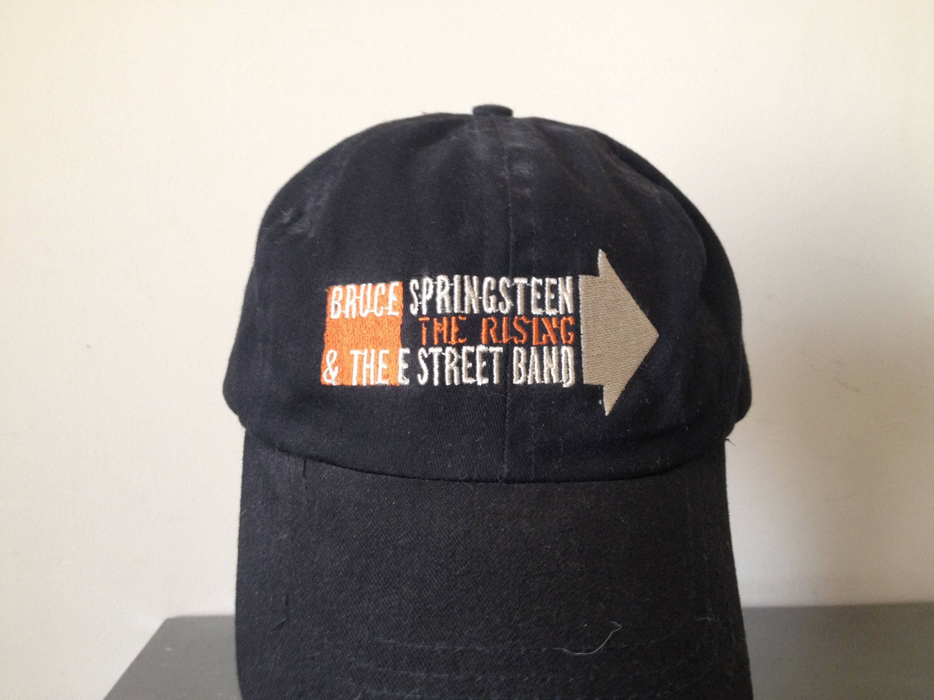 7f1dd7d4012 Vintage Bruce Springsteen and The E Street Band The Rising Tour Roadie Hat  Very Rare Adjustable