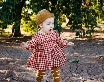 Red Gingham Roanoke top or Dress