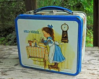 Vintage Holly Hobbie Metal Lunchbox