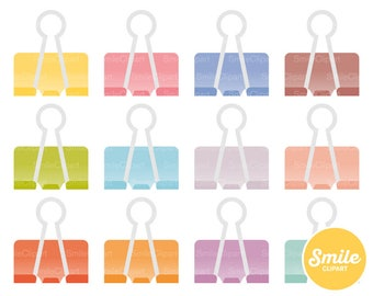 Binder Clip Clipart Illustration for Commercial Use | 0401