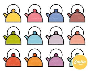 Tea Kettle Clipart Illustration for Commercial Use   0494