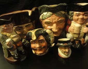 6 Royal Doulton Toby Jugs assorted see full description