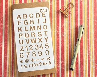 Bullet Journal Stencil #C10 - Planner, Journal, Craft, Scrapbooking, Decoration