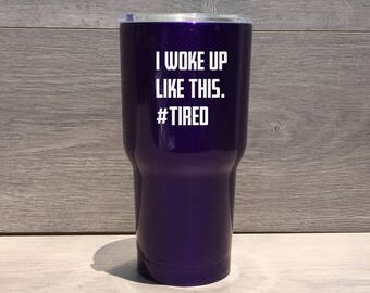 Powder Coated HOGG 30 oz. Tumbler - Customized Stainless Steel Tumbler - Laser Engraved Tumbler - Custom Gifts