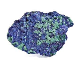 Azurite with Malachite from Touissit, Morocco 00009