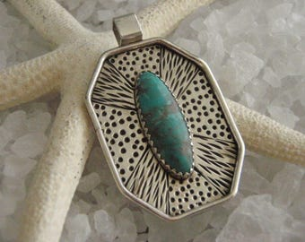 Turquoise Sterling Silver Handmade Pendant by Susan