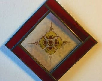 Up-cycled sun-catcher made with antique glass