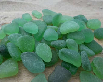 "150 pcs Kelly green TINY Genuine Sea Glass Bulk - 0,2-0,4"" -Jewelry quality- Mosaic-Glass Home Decor-Wedding decor#69B#"
