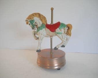 Musical Carousel  Horse plays The Carousel Waltz