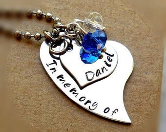 Memorial Necklace Loss Of Loved One Jewelry Memorial