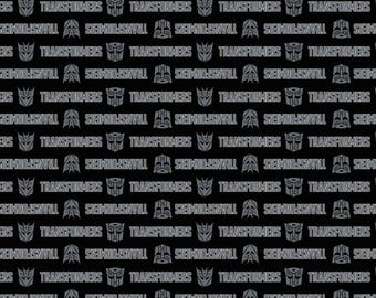 NEW**Transformers Logos Cotton Fabric by the yard