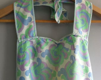 Vintage 1960's Apron, cotton pinny, size 12.