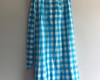 Vintage Gingham Cotton Apron.