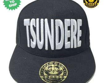Tsundere Snapback Puffy Embroidery Hat