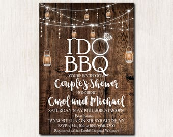 I Do BBQ Invitation, I Do BBQ Couples Shower invitation, I Do BBQ Engagement Party Invitations, I do bbq Printable Invitation - 1690
