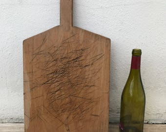 ANTIQUE VINTAGE FRENCH bread or chopping cutting board wood 10021820