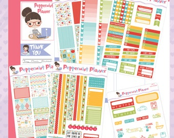 H Planner -- Time for School Weekly Stickers -- #11