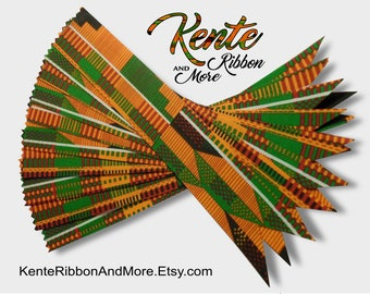 Set of 50 KENTE RIBBON BOOKMARKS - 50 cents each
