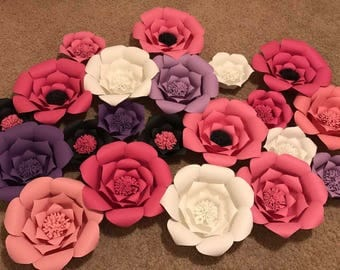 10 paper wall flowers