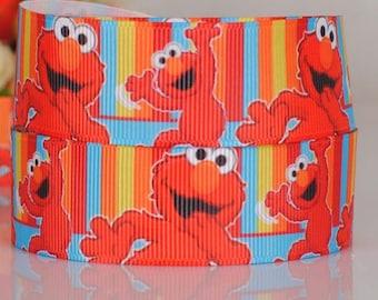 "Grover Grosgrain 7/8"" Printed Ribbon"