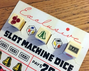 Vintage Slot Machine Dice Game