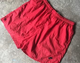 Vintage 90s Nike short pant big swoosh logo on back side Size XL