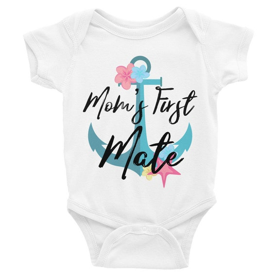 Mom's First Mate, nautical onesie, sailor baby onesie, anchor onesies, nautical baby shower, nautical baby, nautical baby onesie, nautical
