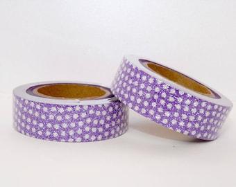 Glitter Washi Tape with purple, masking tape - glitter