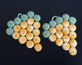 1950's Crochet bottle cap trivets (2)