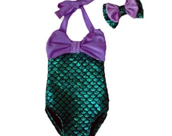 Mermaid OnePiece bathing suit  FREE SHIPPING