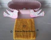 Bustier, top crochet, tutu, 3/6 ans