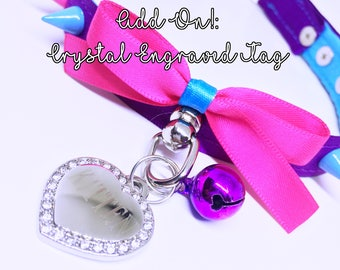 Add On!: Czech Crystal Heart Tag (Add 1-2 Weeks to Processing Time)