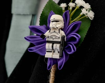 Customised Handmade Star Wars Wedding Buttonhole