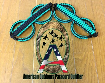 Black and Teal Jeep Paracord Grab Handles (yj tj lj jk jku)