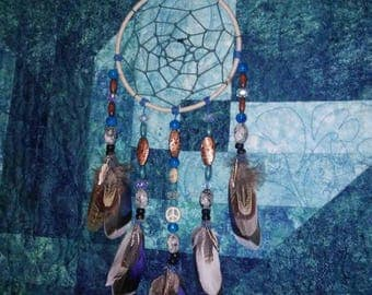 Boho Dream Catcher- Dreamcatcher- Dream Catcher- Home Decor- Gift for a Friend- Housewarming Gift- Blue Decor- Mother's Day Gift- Dorm Decor