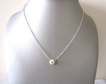 NECKLACE MINI TARGET SILVER METAL