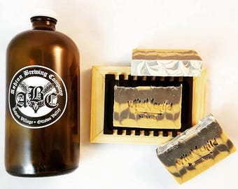 All Natural Cream Ale Beer Soap Bar.  Man Mens Soap. 3-4 oz.  Palm Free. Vegan. Father's Day. Unique Gifts For Men. Chemical-free.