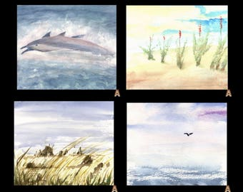 radiance... Hang a Watercolor On Your Phone -- 4 paintings - Dolphins, Flowers On A Hill, Tools Of War, Heading Home - Android HD