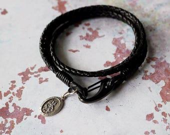 St Christopher Medal - Personalised Religious Bracelet