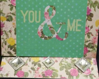 You & Me easel card