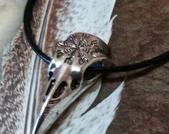 Aegishjalmur, Skull Crow, Raven, pagan jewlery, Viking symbol, Vegvisir