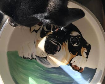 Custom Pet Bowl - With a photo of YOUR pet!